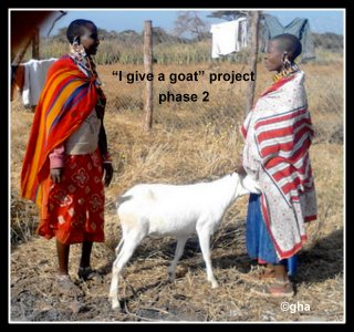 Noomayianatt give a goat(kenya) gazelle harambee association