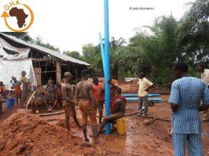 Gazelle Harambee Association de Solidarité en Afrique Forage à Zoungodo 2016 Bénin