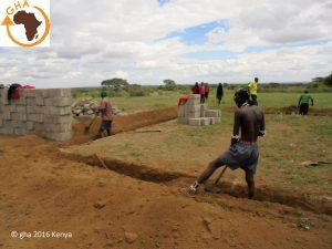 Projet Construction école Angatarangai 2016 Kenya Association solidarité & développement en Afrique Gazelle Harambee 2016 Kenya